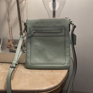 Coach Cross Body Bag (mint colour)
